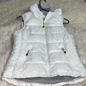 tangerine active hoodies vest white